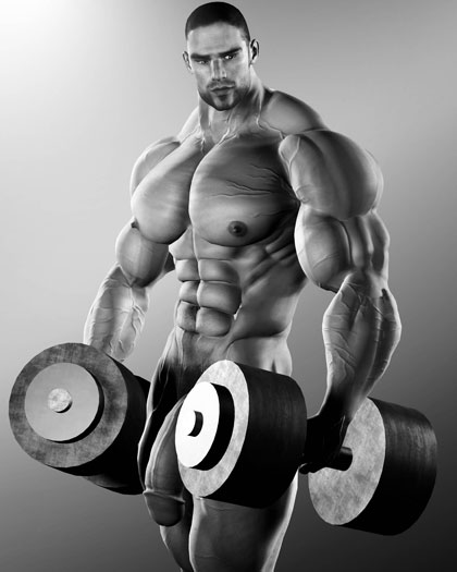 muscle naked men